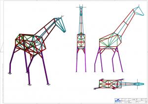 Stahlrahmen-Konstruktion Tierarzt Aichholzer